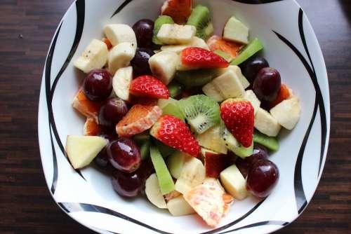 Fruit Fruit Salad Raw Food Mango Bio Vegetarian