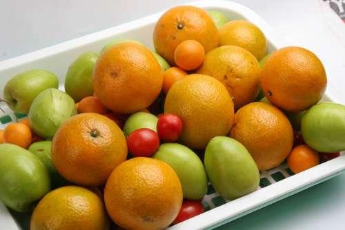 Fruit Oranges Dish