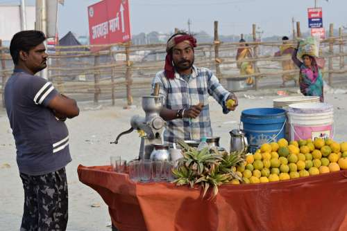 Fruits Juice Vendor Healthy Juicy Food Fresh