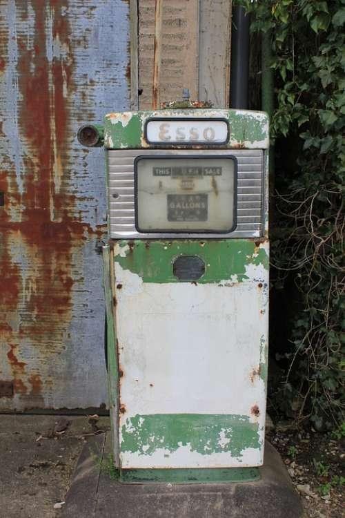 Fuel Esso Vintage Benzine Gasoline Petrol Station