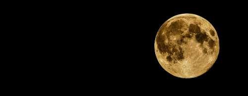 Full Moon Moon Night Dark Black Moonlight