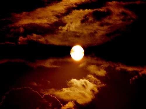 Full Moon Cloud Night Sky Light