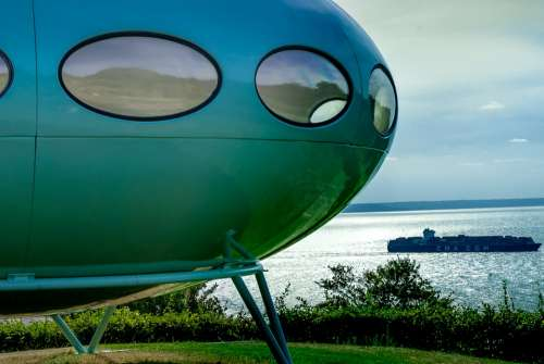 Futuro Landscape Future House Saucer Flying Matti