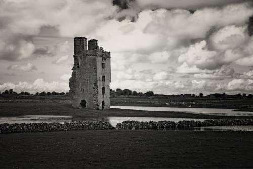 Galway Rural Ruin Historical Sky Cloud Landscape