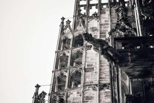 Gargoyle Cathedral Catholic Character Chimera