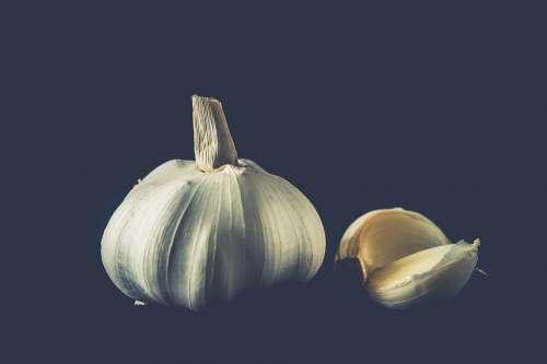 Garlic Herbs Cooking Food Healthy Tasty Fresh