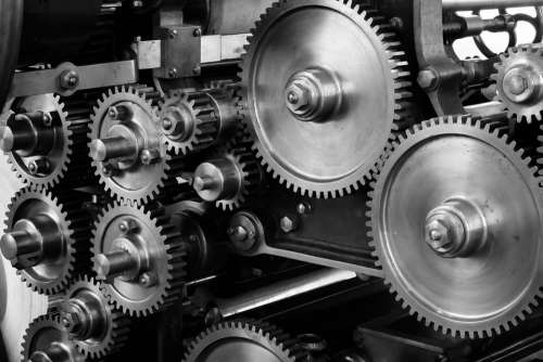 Gears Cogs Machine Machinery Mechanical