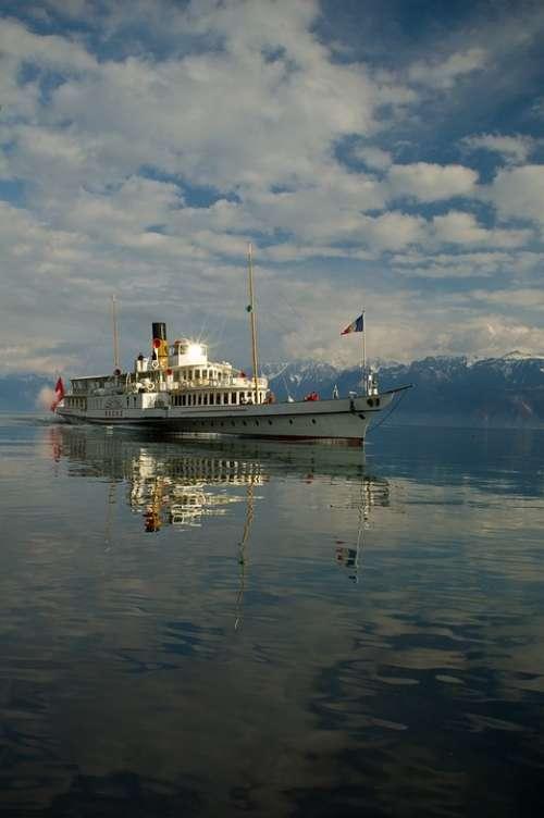 Geneva Lake Lausanne Switzerland Water Landscape