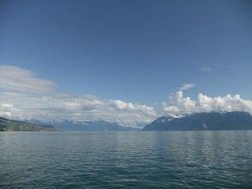Geneva Lake Geneva Alpine Lake Ouchy Water Lake