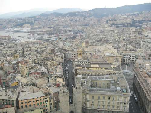 Genoa Italy Overview City Center