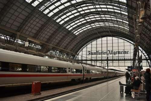 Germany Train Station Train Frankfurt
