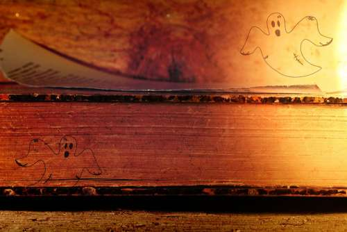 Ghosts Book Old Ghost Spooky