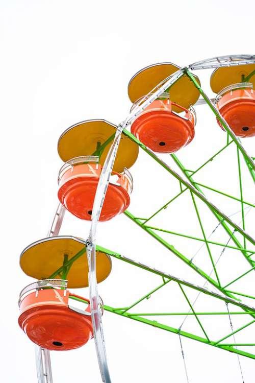 Giant Wheel Ferris Wheel Fair American Orange