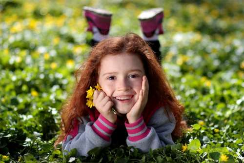 Girl Red Hair Freckles Portrait Beauty Child