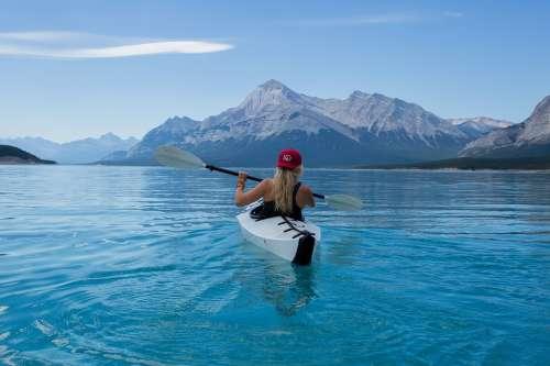 Girl Kayak Canoe Kayaking Paddle Paddling Boat