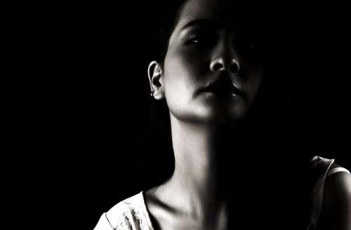 Girl Portrait Black And White Attractive Sensuality