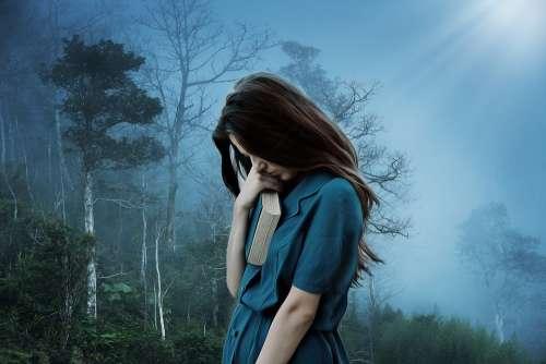 Girl Sadness Loneliness Sad Depression Alone
