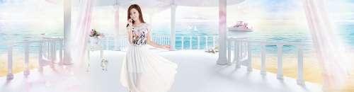 Girl Model Fantasy Nature Blue