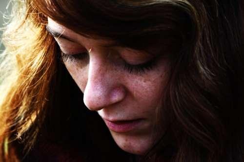 Girl Face Head Hair Portrait Detail