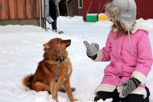 Girl Dog Winter Fur Hat Finnish Spitz