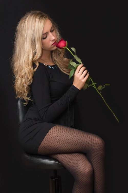 Girl Young Woman Blonde Black Young Girl Lady
