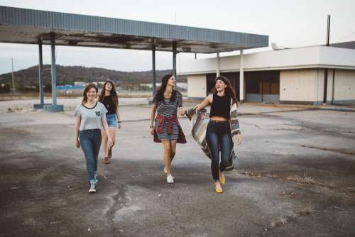 Girls Group Teenagers Style Fashion