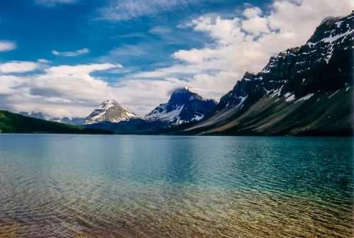 Glacier Snow Mountain Lake