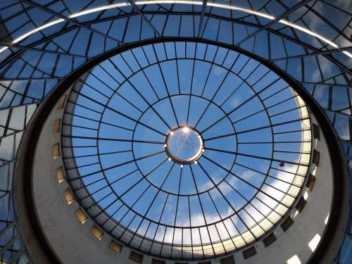 Glass Glass Dome Architecture Building Window Sky