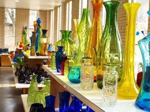 Glass Shop Store Sale Colorful Transparent