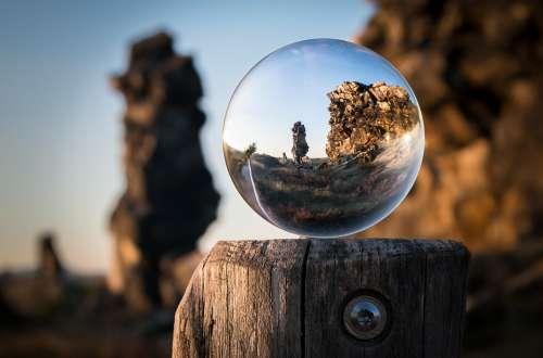Glass Ball Devil'S Wall Creation Königstein