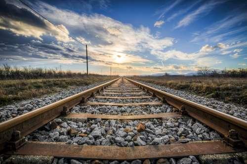 Gleise Rails Train Rust Rail Traffic Railway