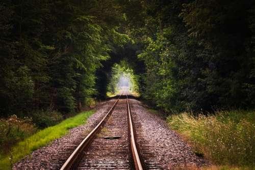 Gleise Rails Train Railway Embankment Railway Rails