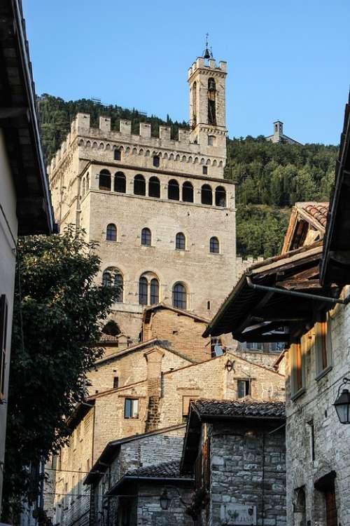 Glimpse Historian Borgo Ancient Gubbio Umbria
