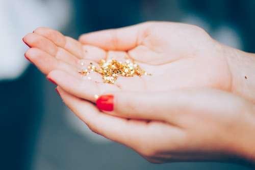 Glitters Hands Macro Shiny