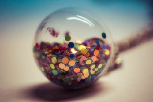 Globe Color Glass Charm