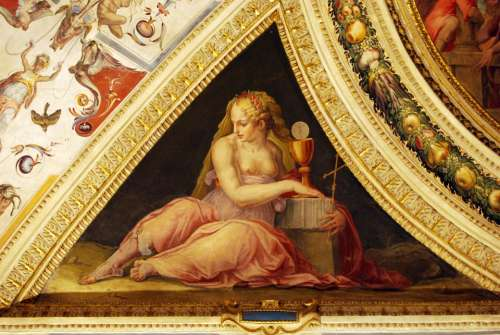 Goddess Painting Art Ceiling Particular Palazzo
