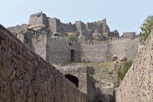 Golconda Fort Hyderabad India Asia Travel Nikon