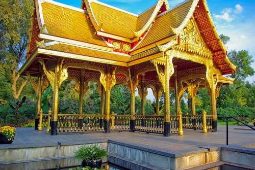 Golden Thai Pavilion At Olbrich Olbrich Botanical