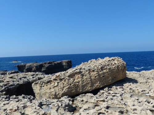 Gozo Malta Sea Rock Coast