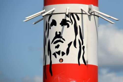 Graffiti Jesus Street Art Religion Art