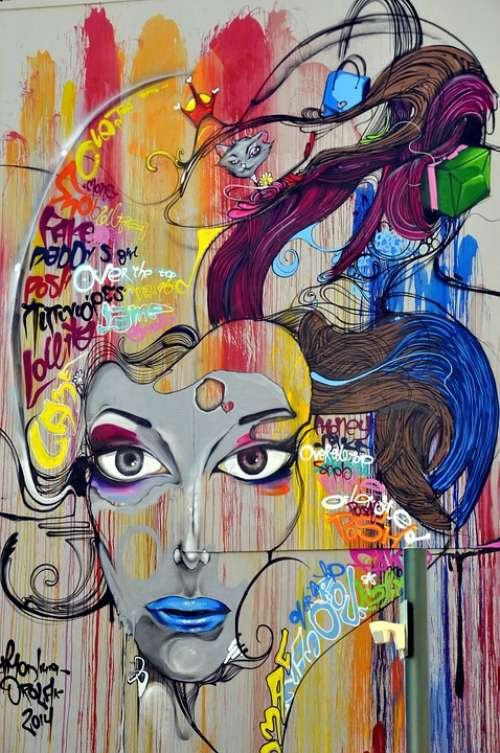 Graffiti Mural Street Art Painting Art Wall Art