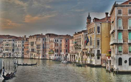 Grand Canal Grand Canal Venice Italy Gondola