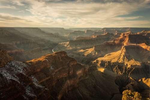 Grand Canyon Scenery Landscape Nature Park Scenic