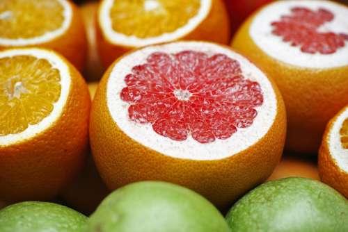 Grapefruit Oranges Fruit Healthy Nourishment Diet