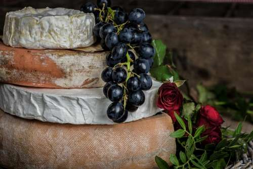 Grapes Berry Fruit Sweet Cheese Food Mockup