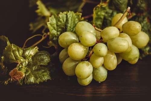 Grapes Fruit Green Ripe Delicious Fresh