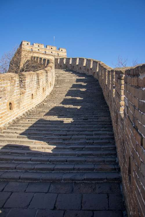 Great Wall China Wall Landmark Building