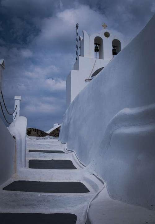 Greece White Church Travel Island Cyclades