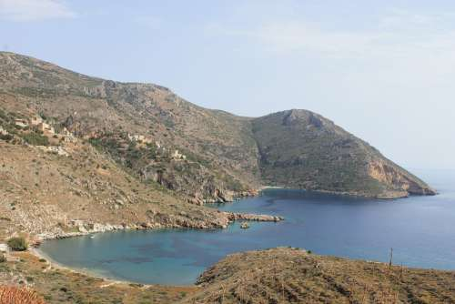 Greece Sea Coast Ocean Landscape Bay Free Picture