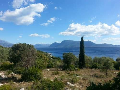 Greece Mediterranean Island Ionian Greek Meganissi